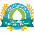 Drupal Association Signature Supporting Partner badge