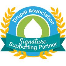 Drupal Association Signature Supporting Partner badge
