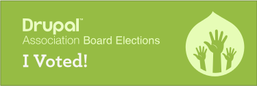 Drupal Association Board Elections - I Voted!
