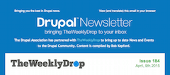 Drupal Newsletter header