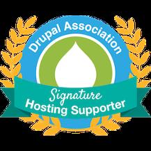 Drupal Association Signature Hosting Supporter badge