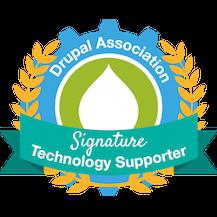 Drupal Association Signature Technology Supporter badge