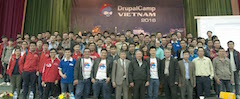 DrupalCamp Vietnam 2016 group photo